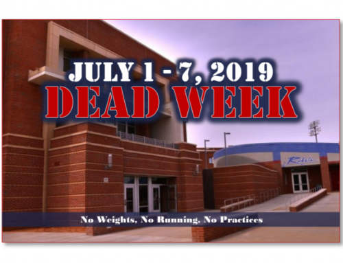 July 1 – 7 is Dead Week
