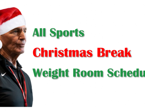 Holiday Weight Room Schedule