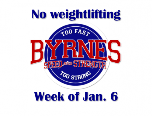 Week of Jan. 6:  Weight Room is Closed