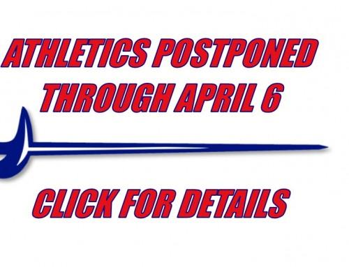 All Athletics Postponed . . .
