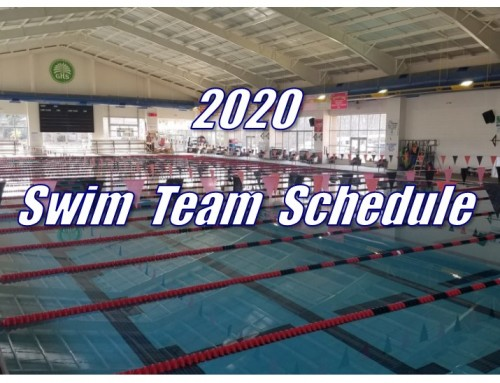 2020 Swim Schedule Released