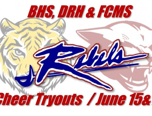 Byrnes, D.R. Hill, & Florence Chapel cheer tryouts begin on the 15th!