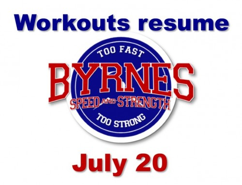 Workouts resume on July 20!