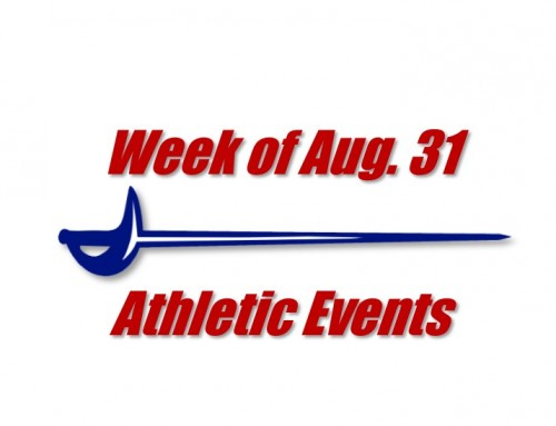 Athletics is back!  Week of Aug. 31 events!