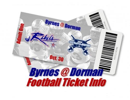Byrnes @ Dorman Football Ticket Info