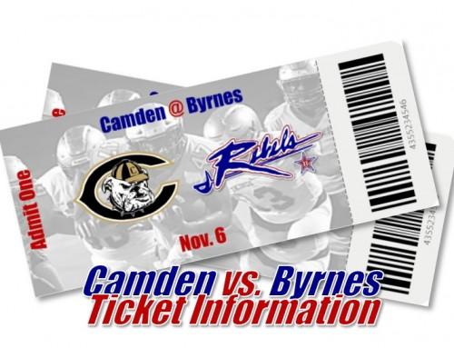 Football: Byrnes vs. Camden Ticket Info
