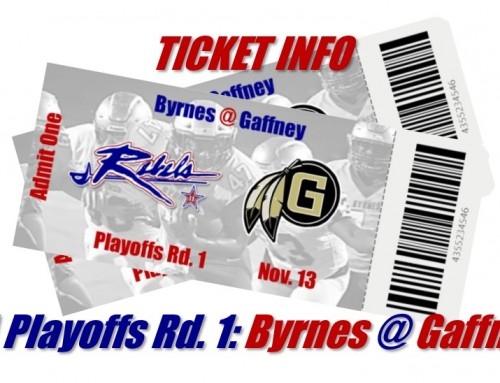 Click here for Byrnes vs. Gaffney Playoff Tickets!!!