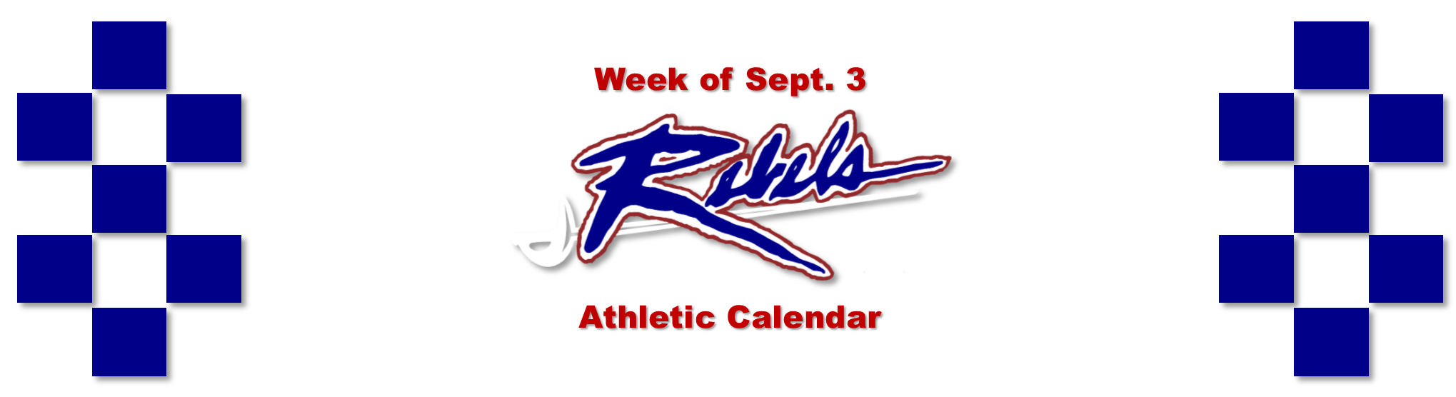 Week of Sept 3 Athletic Events